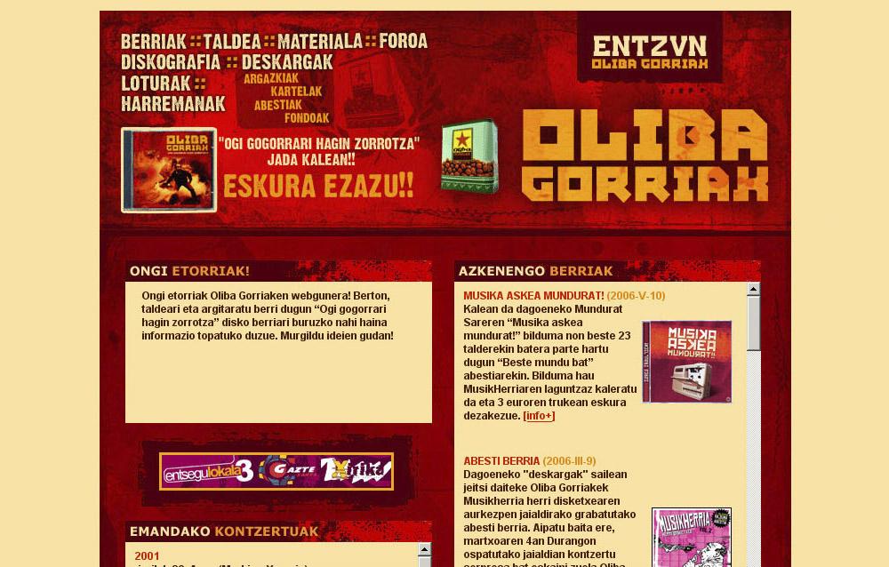 Oliba Gorriak: web gunea [1.0]