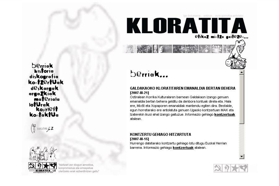 Kloratita: web gunea [2.0]