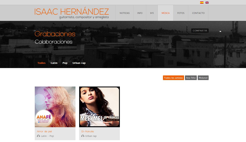 Isaac Hernández: web gunea
