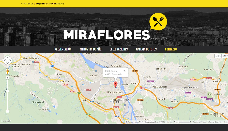 Miraflores  jatetxearen  logotipoa  eta  web  orria  diseinatu  ditugu