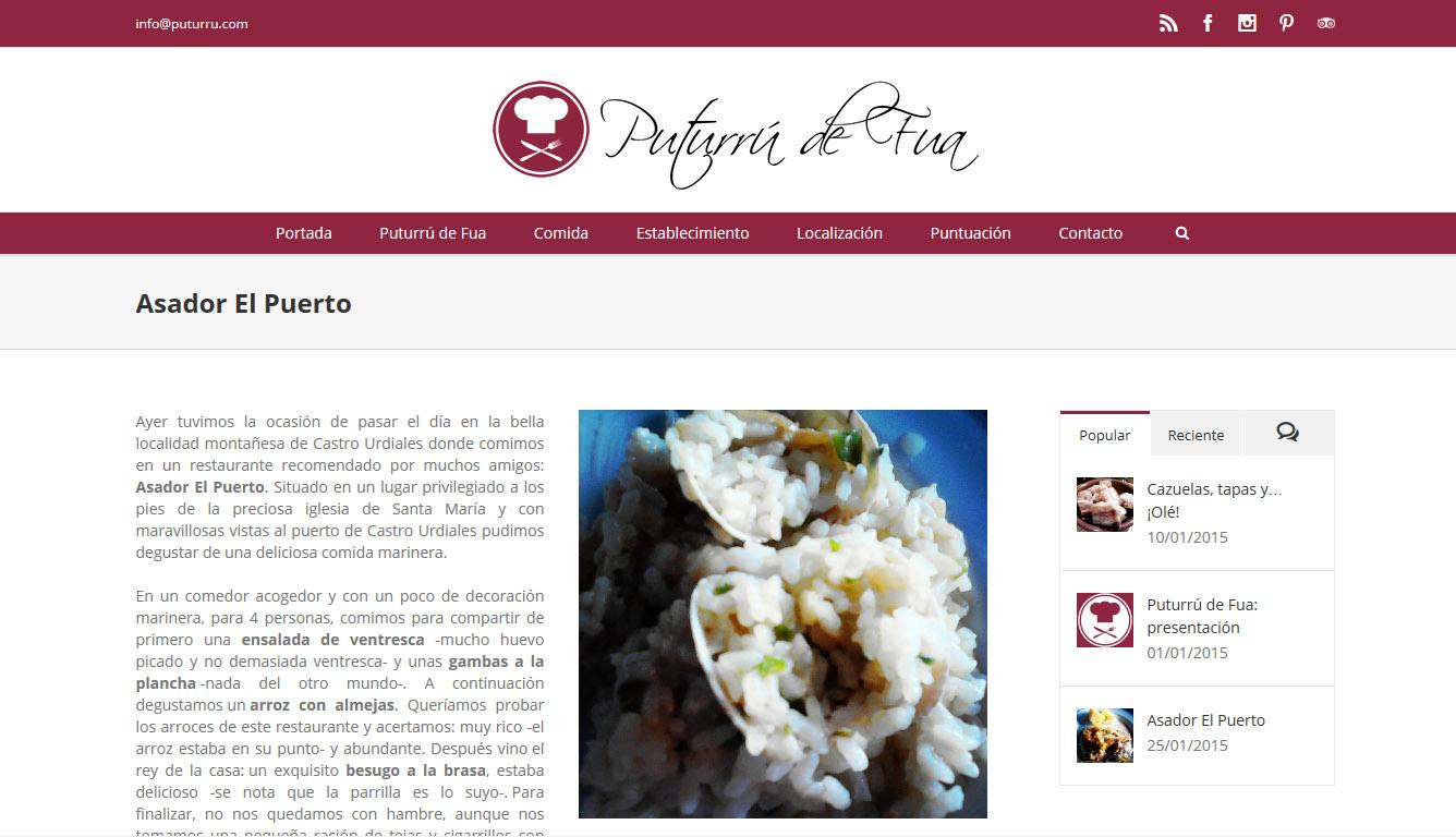 Puturrú de Fua proiektuaren logotipo eta web orria sortu ditugu