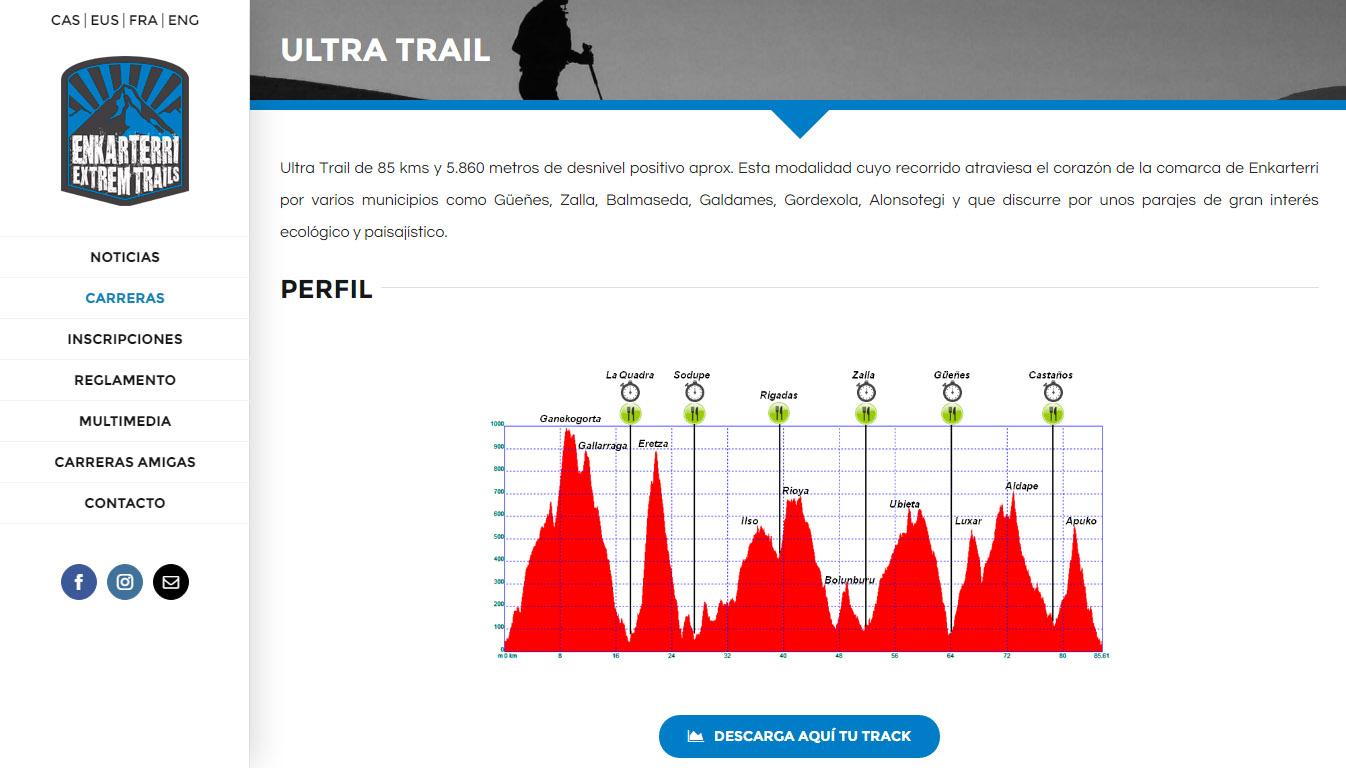 Enkarterri Extrem Trails: web gunea