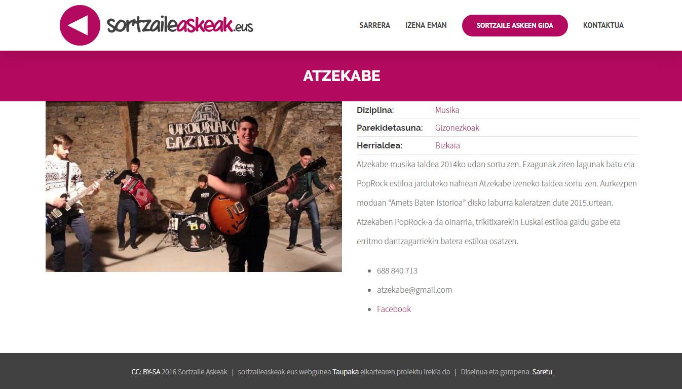 Sortzaile Askeak proiektu berria
