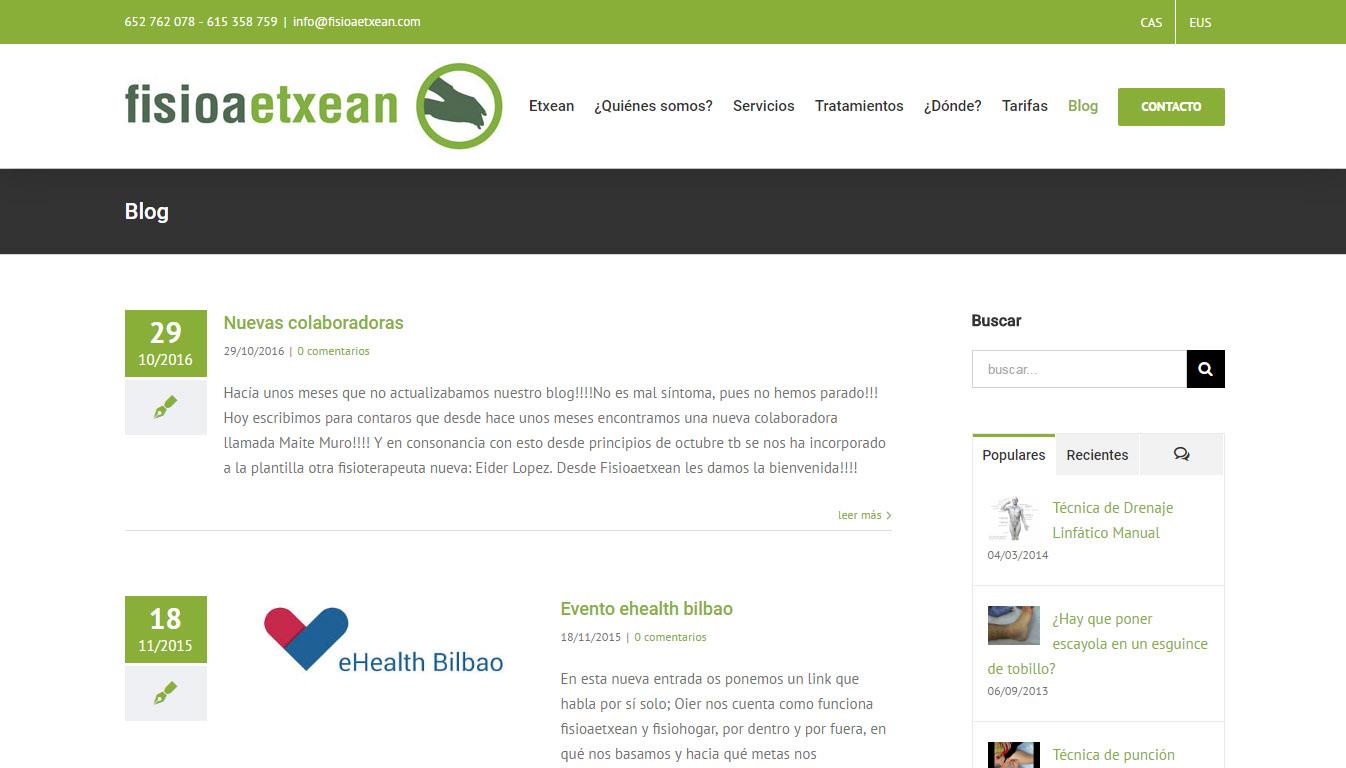 FisioaEtxean-en  web  gune  berritua
