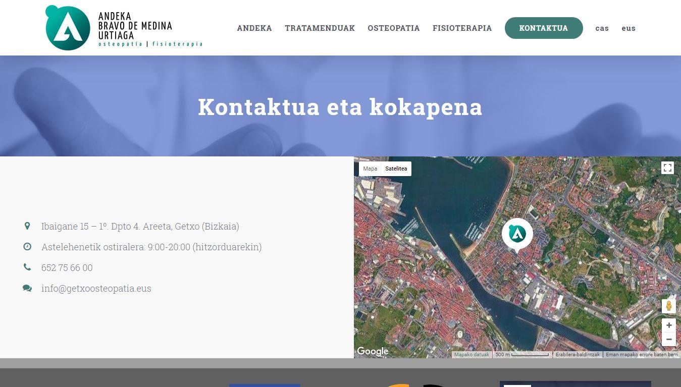 Hemos creado la web del osteópata Andeka Bravo de Medina