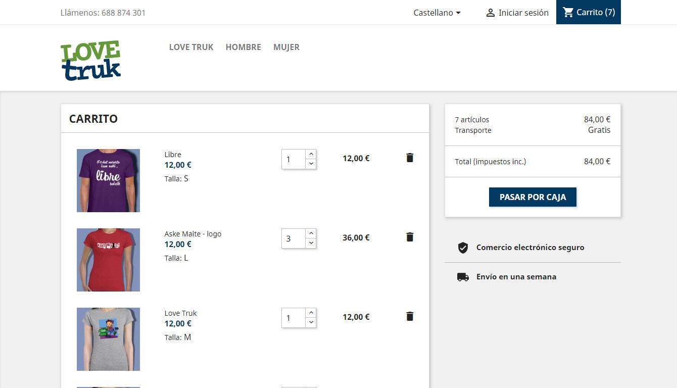 Love Truk: tienda online