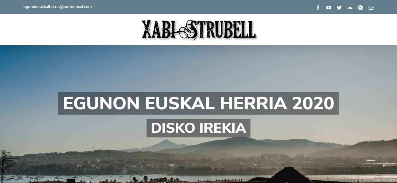 Xabi Strubell musikariaren web gunea sortu dugu